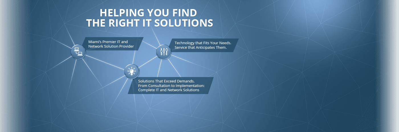 Helping you find the right IT solutions